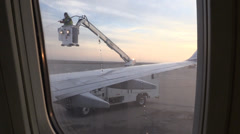Aircraft deicing truck at airport, Stock Footage