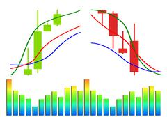 Commodity, forex trading vector - stock illustration