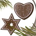 Stock Illustration of Gingerbread stars, heart