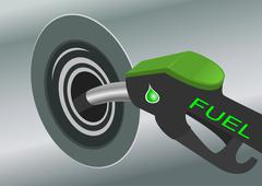Pumping fuel in to the tank Stock Illustration