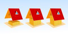 House, vector illustration - stock illustration
