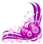 Christmas design on a white background - stock illustration