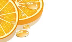 Stock Illustration of Slice of orange on a white background