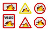 Stock Illustration of Dangers of nature - conflagration, wildfire