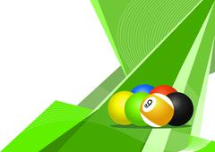 Stock Illustration of Pool balls, abstract design