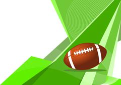 Stock Illustration of American football, abstract design