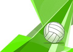 Stock Illustration of Volleyball , abstract design
