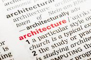 Stock Photo of Architecture Word Definition