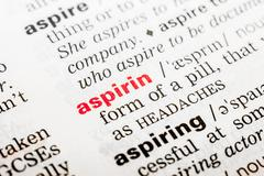 Stock Photo of Aspirin Word Definition