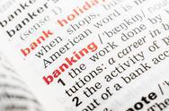Stock Photo of Banking Word Definition