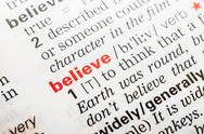 Stock Photo of Believe Word Definition