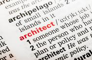 Stock Photo of Architect Word Definition