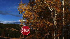 Grand Tetons Stop Sign Stock Footage