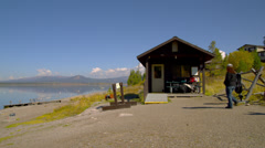 Boat House in Grand Tetons - stock footage