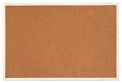 empty bulletin cork board in white frame - stock photo