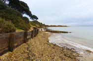 Stock Photo of lepe beach, hampshire, england, united kingdom.