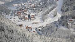 Ski resort timelapse Stock Footage