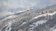 Ski resort chalets landscape timelapse Stock Footage