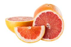 ruby grapefruits - stock photo
