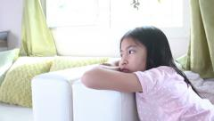 Little Girl Thinking - stock footage