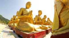 Golden Buddha Stock Footage
