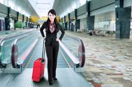 Stock Photo of business traveler