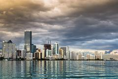 miami florida skyline - stock photo