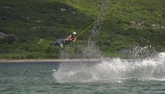 SLOW MOTION: Wakeboarding Stock Footage
