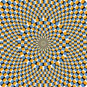 Optical effect of movement. Vector illustration - stock illustration