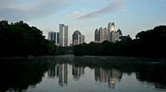 Atlanta, Georgia Skyline at Piedmont Park Arkistovideo