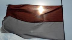 Indonesian flag 2 Stock Footage