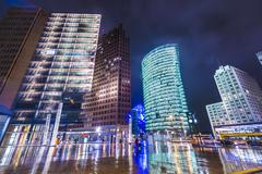 berlin at potsdamer platz - stock photo