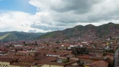 Cusco Gathering Storms and Rain - stock footage