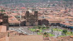 Plaza de Armas Cuzco Peru Timelapse Stock Footage