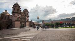 Plaza de Armas Cusco Timelapse Stock Footage