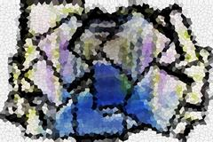 Pixelated squares Stock Illustration