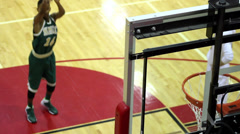 Slow motion shallow depth of field free throw shot Stock Footage