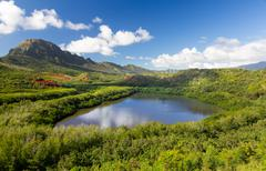 Menehune fishpond kauai hawaii Stock Photos