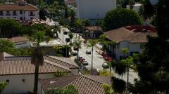 Traffic in Santa Barbara, CA Stock Footage