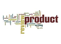 product review word cloud - stock illustration