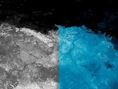 Abstract background. rough water with splashes Stock Photos