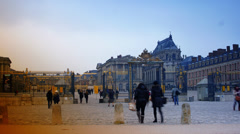 Sept. 2, 2013 - Versailles, France - Crowds of Tourists, time lapse view, 4k Stock Footage