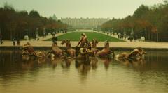 Apollo fountain in Versailles garden, time lapse, 4k - stock footage