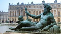Versailles, Paris, France-The sculptures, time lapse Stock Footage