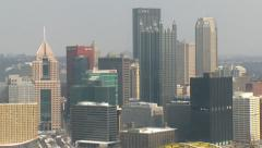 4K Pittsburgh Establishing Shot Zoom Out 3998 Stock Footage