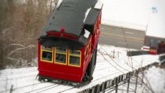 4K Duquesne Incline Trolley Cars 4000 - stock footage
