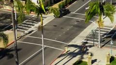 Intersection in Santa Barbara, CA Stock Footage