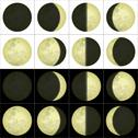 Stock Illustration of Moon phases, set