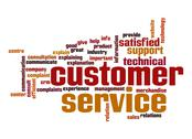 Stock Illustration of customer support word cloud