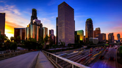 Los Angeles, California Cityscape Stock Footage